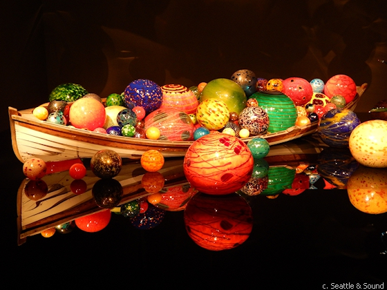 Chihuly first filled boats with glass in 1995 as part of the Chihuly Over Venice project.
