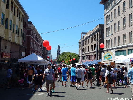 Dragon Fest takes place every July in Seattle's historic Chinatown-International District.