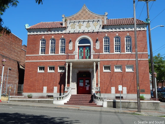 The historic Chong Wa Benevolent Association building, constructed in 1929.