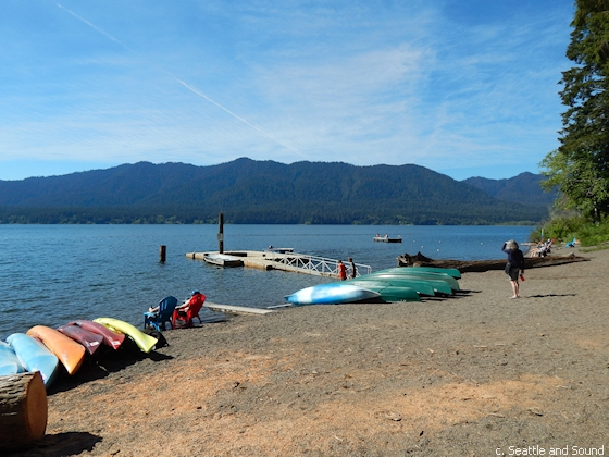 Kayak and canoe rentals at Lake Quinault Lodge
