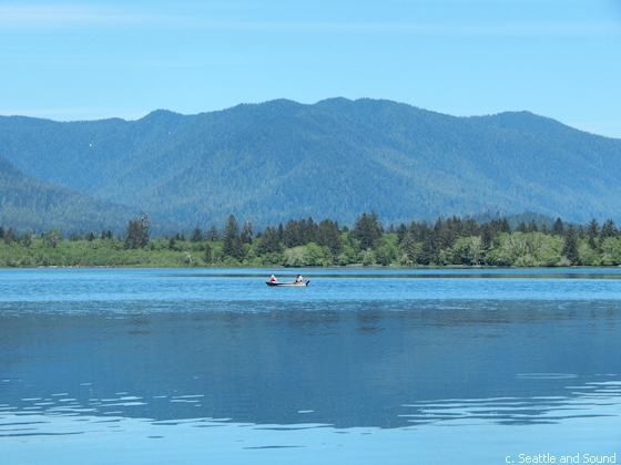 Fishing on Lake Quinault