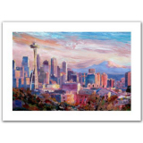 Seattle Skyline with Space Needle Canvas Print