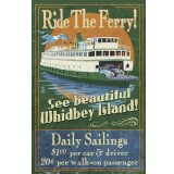 Whidbey Island Ferry Poster Print