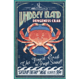 Whidbey Island Dungeness Crab Poster Print