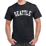 Seattle T-Shirt w/ White Block Letters