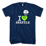 I Heart Rainy Seattle Adult T-shirt