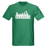 Seattle Skyline T-Shirt by CafePress