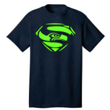 Seattle Seahawks Logo V Tie Dye T-shirt